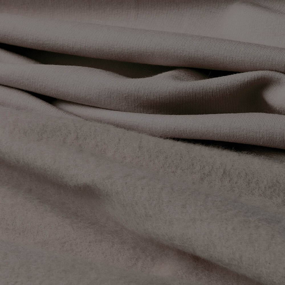 Baumwoll-Sweat - taupe