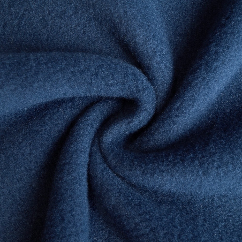 Timo - Fleece Stoff - Blau